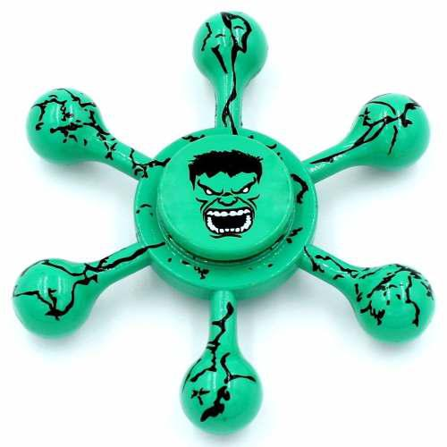 Fidget spinner de metal avengers hulk diámetro 60 mm 66g s1