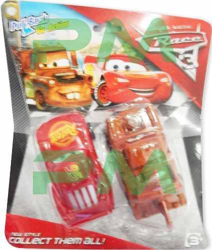 Juego de 2 carros cars set carritos juguete rayo mcqueen