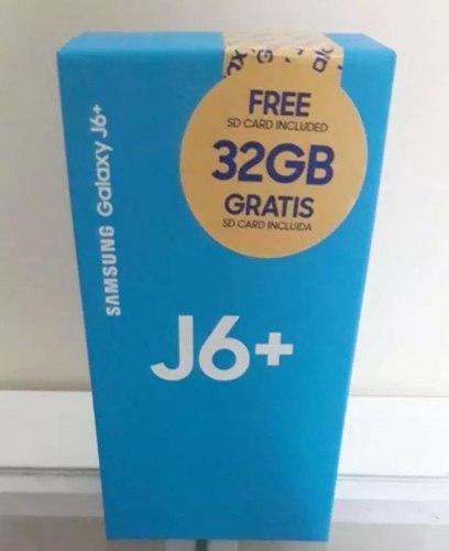 Samsung j6 plus 32gb+microsd 32gb somos tienda