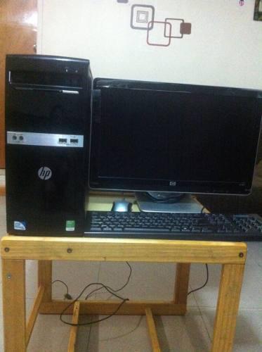 Vendo computadora de escritorio en perfecto estado, cpu hp