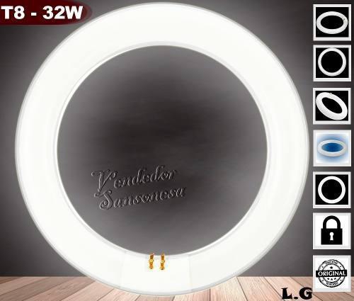 Bombillo circular redondo fluorescente tub65 32w 130v 20000h