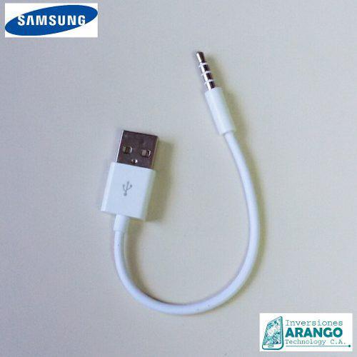 Cable doble punta plu usb para mp3 mp4 movil tablet pc carro