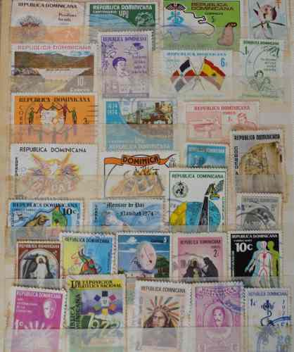 Estampillas de colección filatelia república dominicana