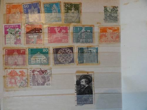 Estampillas de colección filatelia suiza