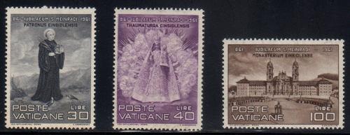 Estampillas de vaticano 1961