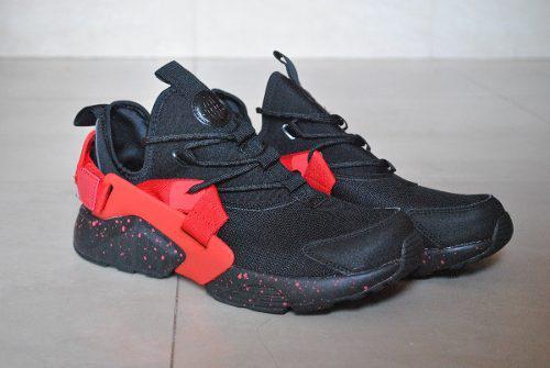 a7435189 Kp3 zapatos nike air huarache city negro rojo caballeros