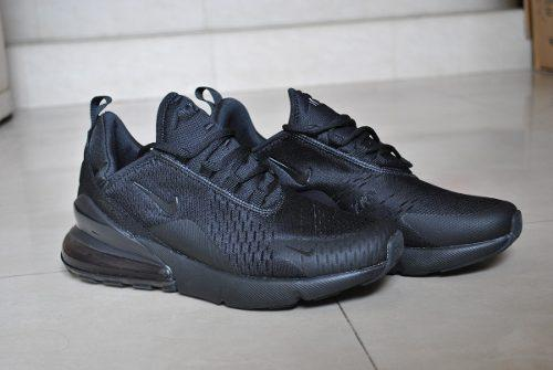 Kp3 zapatos nike air max 270 negro completo solo 45
