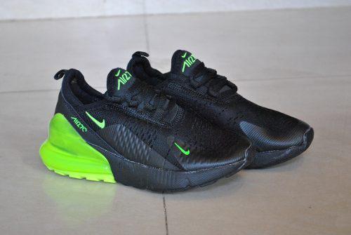 Kp3 zapatos nike air max 270 negro / verde para niños