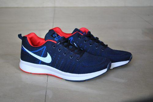 Kp3 zapatos nike air zoom mod 2 azul rojo para caballeros