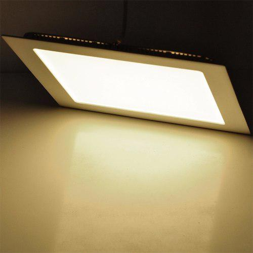 Lampara led panel 12w luz cálida 3000k cuadrada empotrar