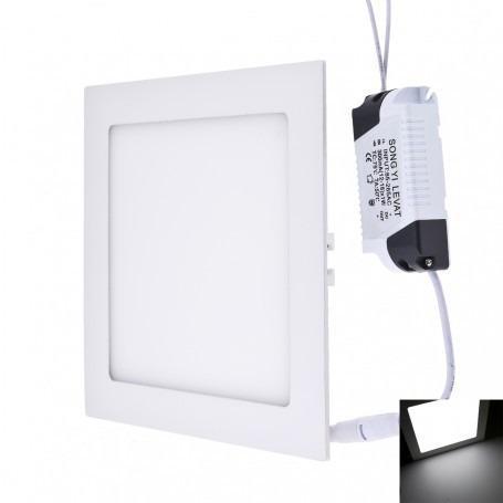 Lampara led panel 15w cuadrada empotrar luz blanca