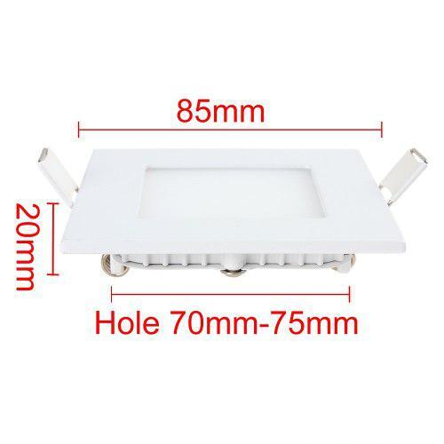 Lampara led panel 3w cuadrada empotrar ojode buey luz blanca