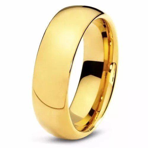 Anillos aro de matrimonio boda acero inoxidable