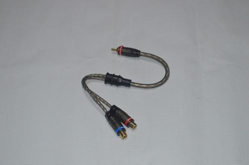 Cable y rca 2 hembras 1 macho marca gp gama alta
