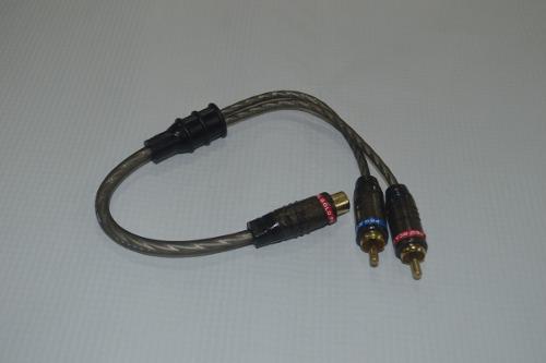 Cable y rca 2 machos 1 hembra marca gp gama alta