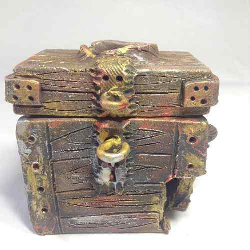 Cofre pequeño variado adorno cerámica acuarios peceras