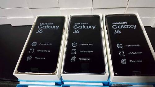 J6 samsung galaxi 32gb + sd32gb nuevo en su caja a estrenar