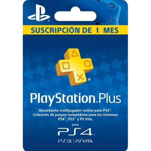 Membresia playstation plus 1 mes 30 dias ps3 ps4 vita usa