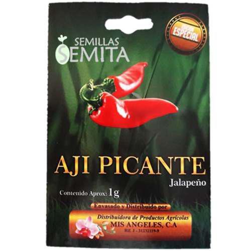 2 sobres de semilla de aji picante / jalapeño