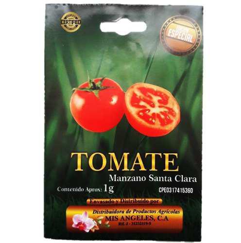 2 sobres de semilla de tomate manzano certificada