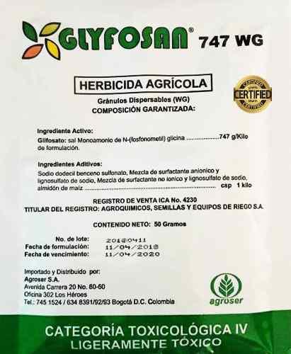 Herbicida agricola 50 gramos