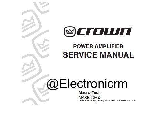 Manual de reparacion power macro tech vz5000