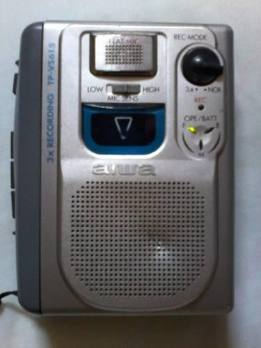 Reproductor portatil de cassette aiwa tp-vs615. usado.
