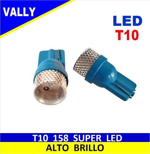 Super led t10 158 azul smd big alta potencia par
