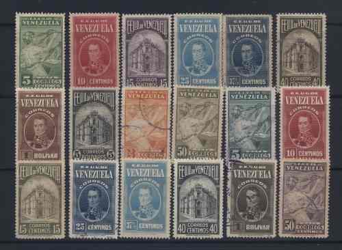 1938-42 Serie Estampillas De Venezuela Café Y Cacacao