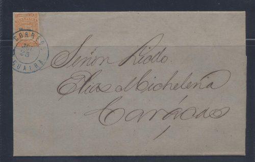 Bella Carta Año 1864 De Venezuela Muy Buen Estado