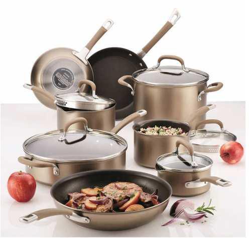 Circulon juego utensilios de cocina 13 piezas bronce/acero