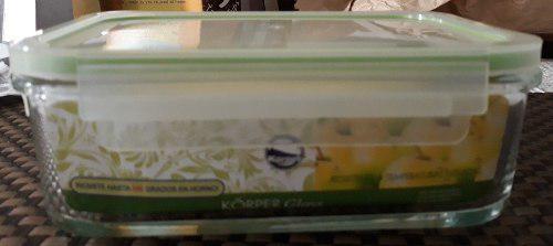 Envase contenedor de alimento korper glass 900 ml refractari