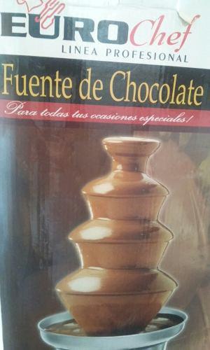 Fuente de chocolate eurochef nueva 4 niveles