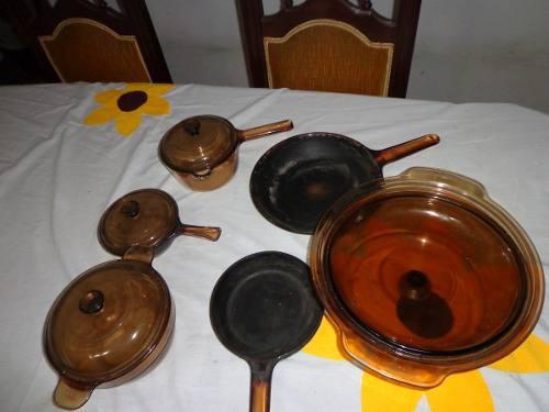 JUEGO DE OLLAS VISION segunda mano  Libertador-Aragua (Aragua)