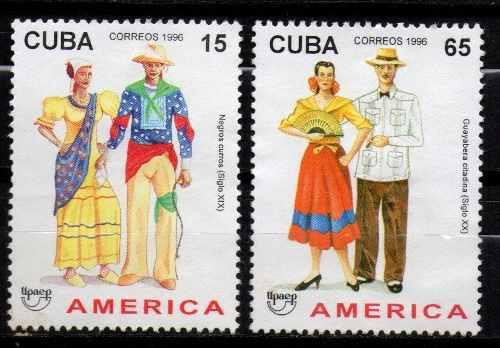 Lag Estampillas Cuba 1996 Serie Completa Nuevas Sin Goma