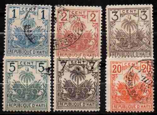 Lag Estampillas Cuba Haiti 1896 Usadas