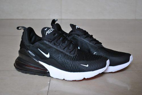 Kp3 zapatos nike air max 270 negro blanco para caballeros