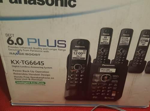 Telefono Inalambrico Panasonic De 4 Auricuales.