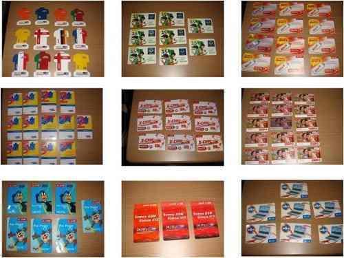 Coleccion de tarjetas cantv,movistar,digitel,movilnet