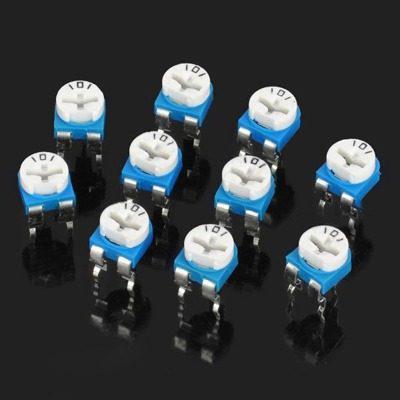 Electronica pieza resistor 10 repuesto 0.1w 50v cvv7
