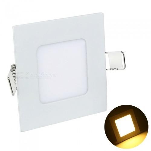 Lampara led panel 3w luz cálida cuadrada empotrar