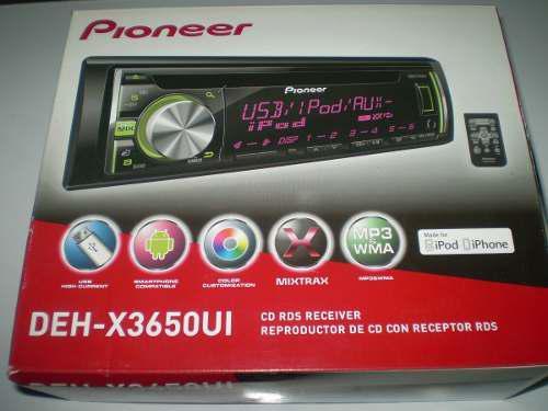 Reproductor Cd/radio/usb Pioneer Deh-x3650ui Original Oferta