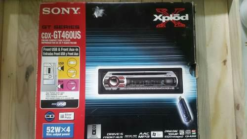 Reproductor sony cdx-gt460us mp3 cd mp3 entrada usb y aux