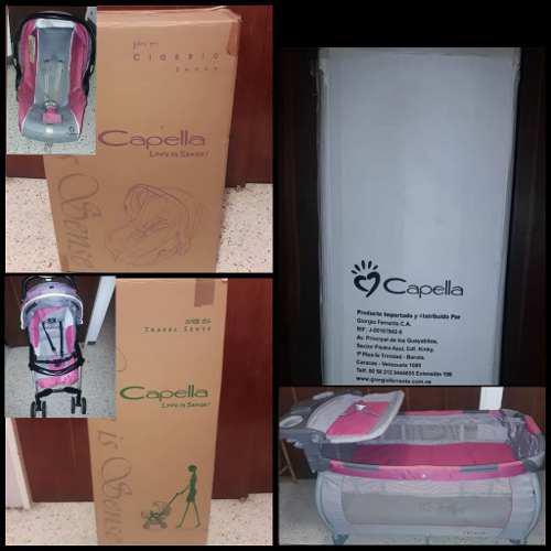 Combo corralcuna + coche paraguas + porta bebé marca
