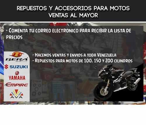 Lista de precios para repuestos de motos