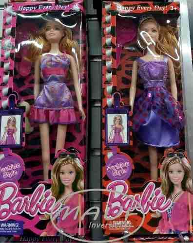 Muñeca barbie fashion style nueva de 28cm modelos varios