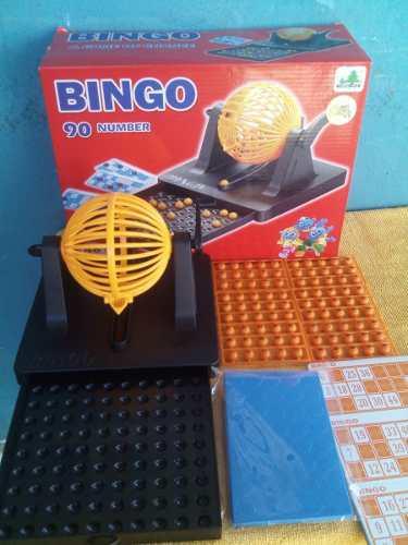 Bingo con bombo fichas guía cartones juego mesa