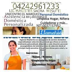 Domesticas venezuela04242961233c.acuidadoras niñeras