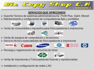 Mantenimiento y reparacion de fotocopiadoras, impresoras y