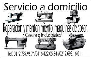 Reparación a maquinas de coser caseras e industrial